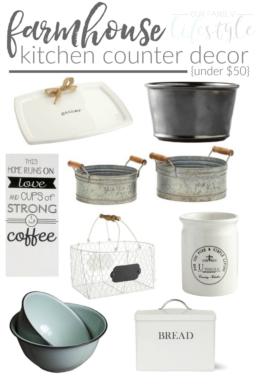 Farmhouse Kitchen Counter Decor Under $50