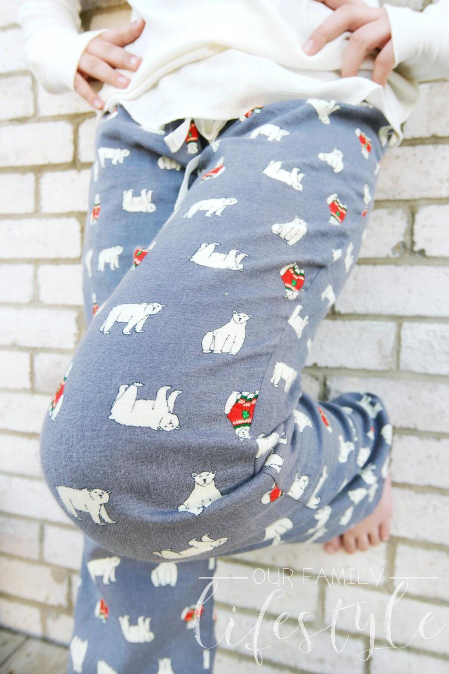 flannel drawstring sleep pants