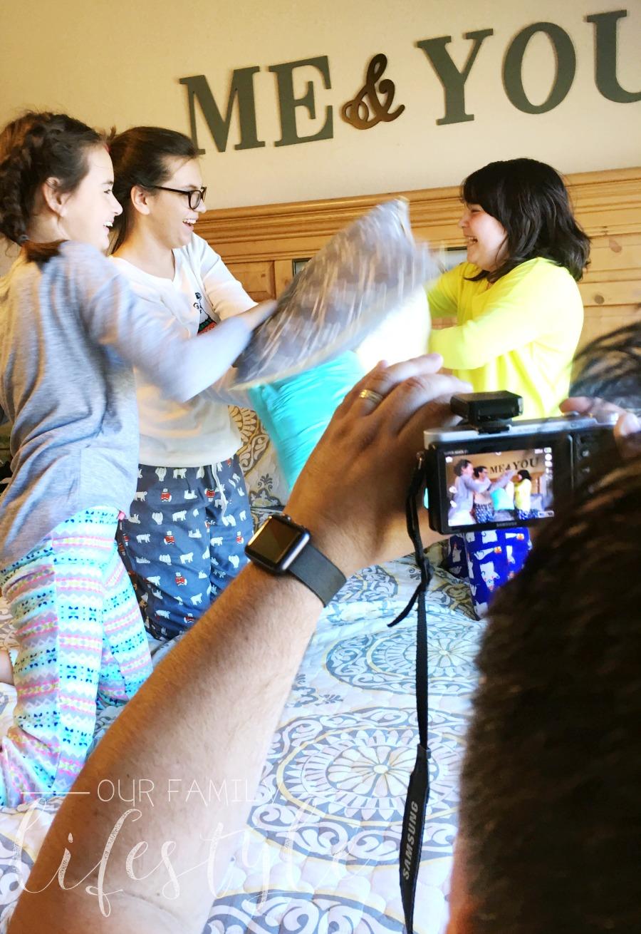 pajama pillow fight
