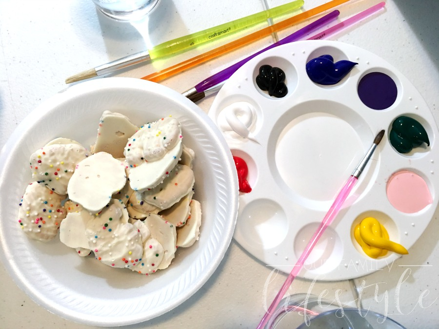 DIY painting party snacks