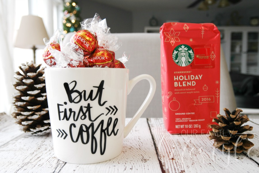 Easy Holiday Gifts in a Mug Featuring Starbucks and Lindt