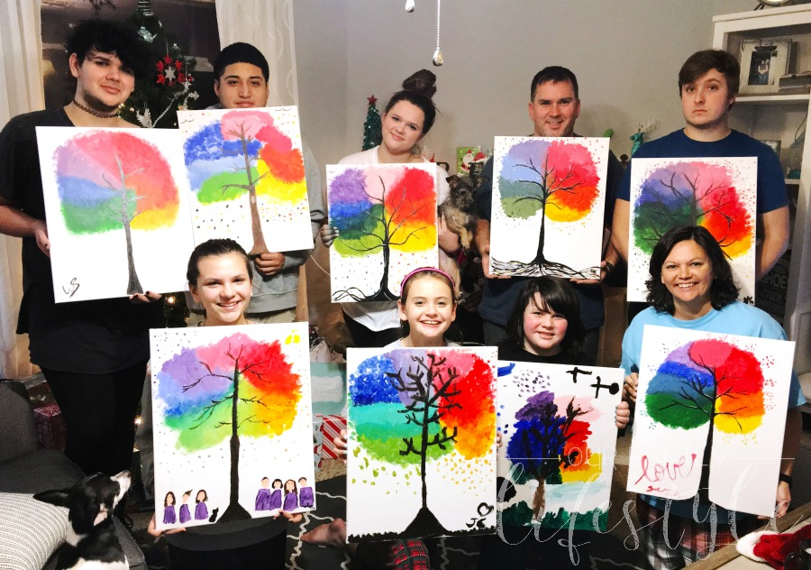 at-home painting party