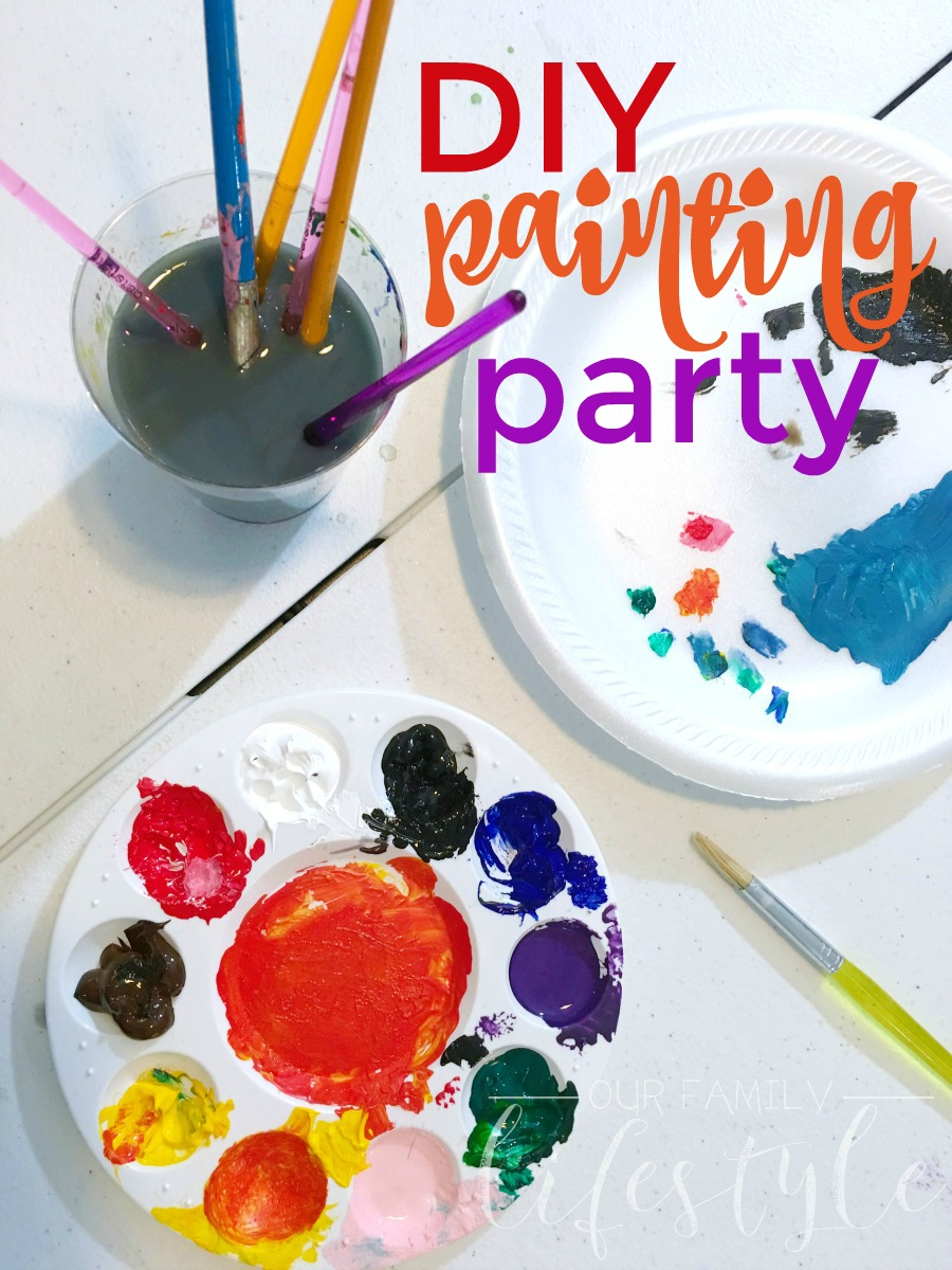 How to host a DIY at-home painting party