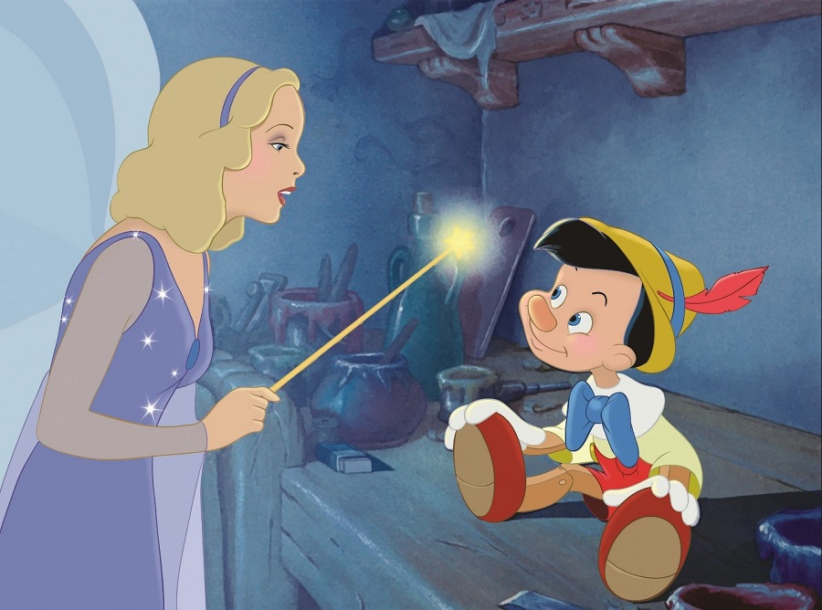 Pinocchio and the Blue Fairy