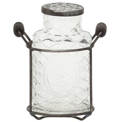 MeraVic Medallion Glass Vase