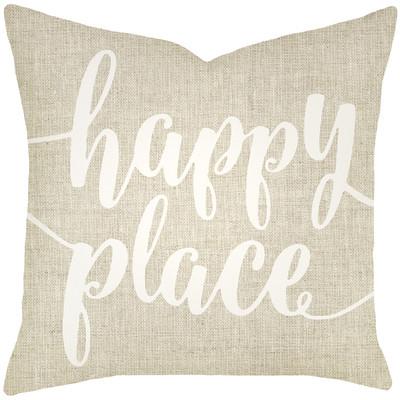 Mercury Row Bolte Happy Place Typography Cotton Throw Pillow