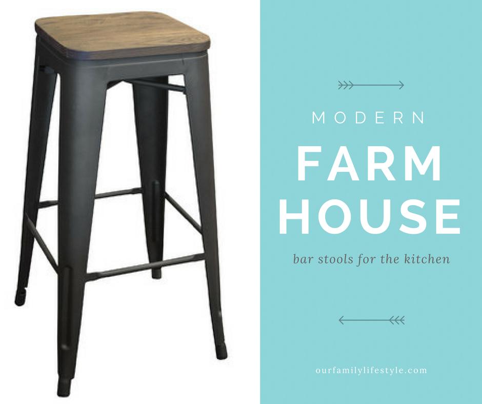 Modern Farmhouse Bar Stools for the Kitchen