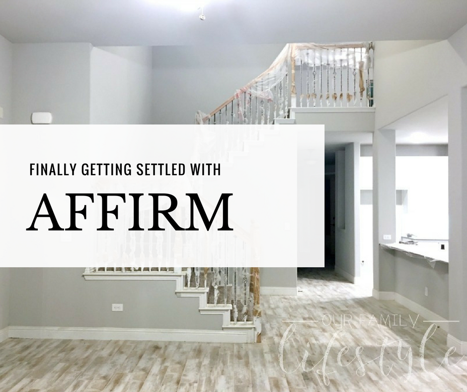 finally getting settled with Affirm