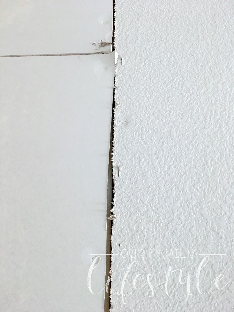 gaps in sheetrock