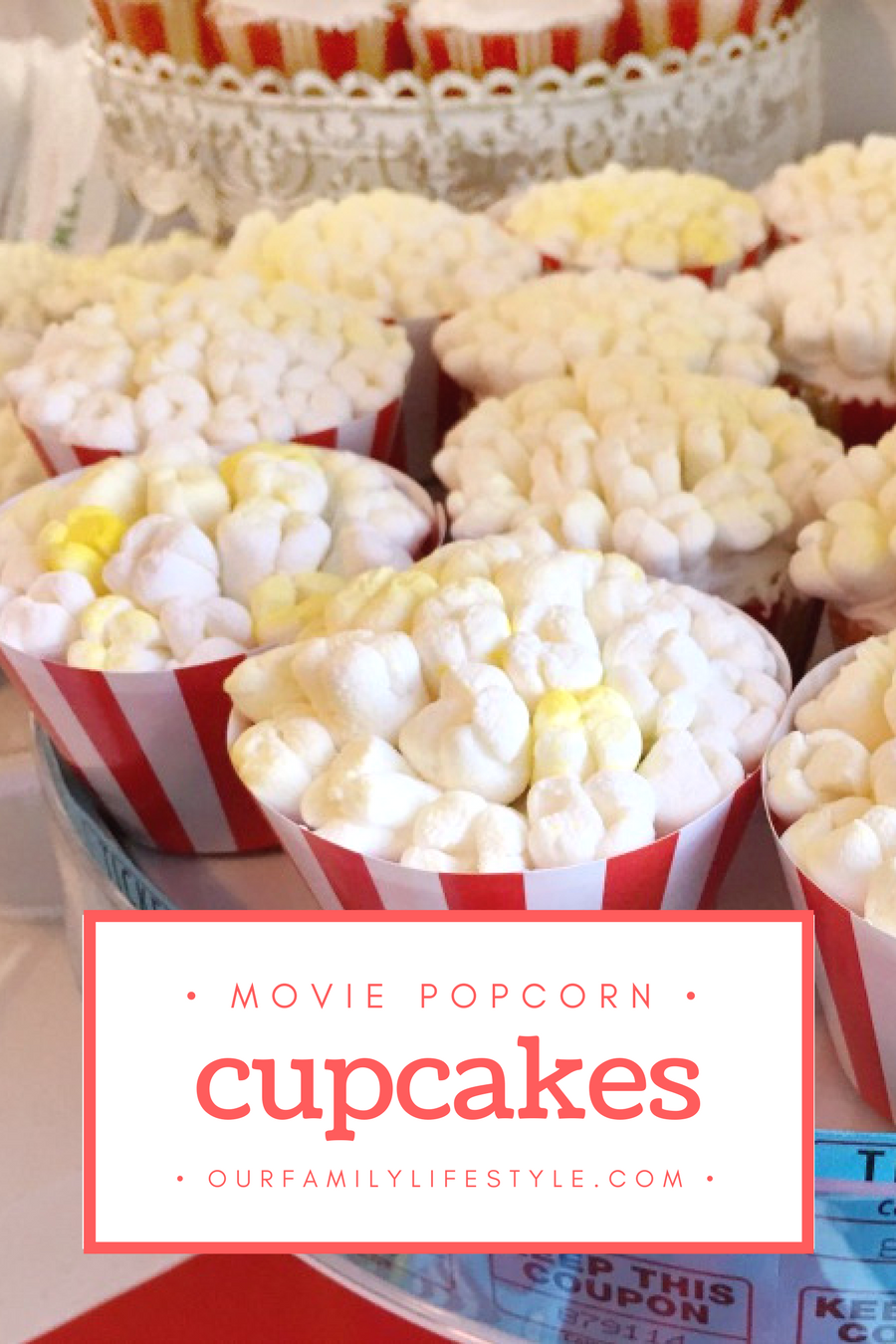 Enjoy Movie Popcorn Cupcakes for Family Movie Night