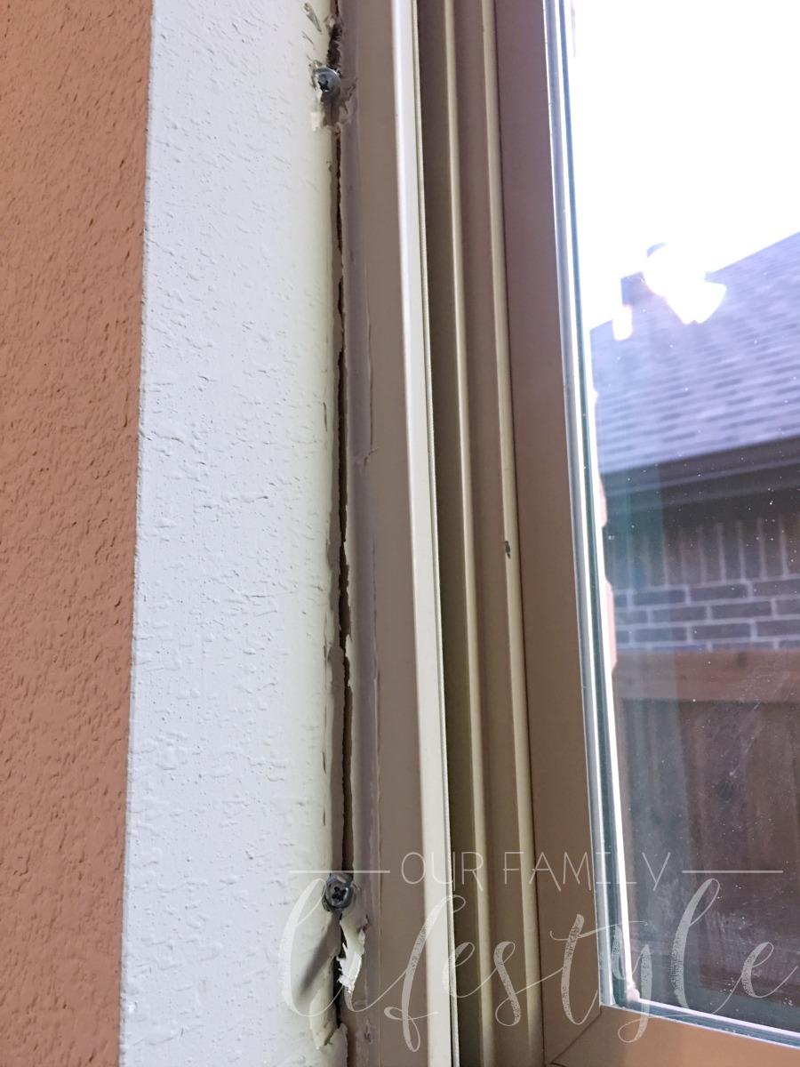 window framed wrong