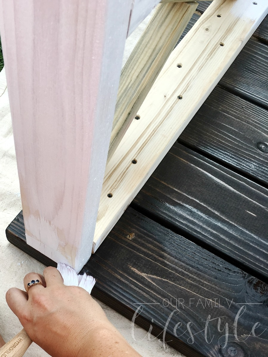 paint and stain - farmhouse table