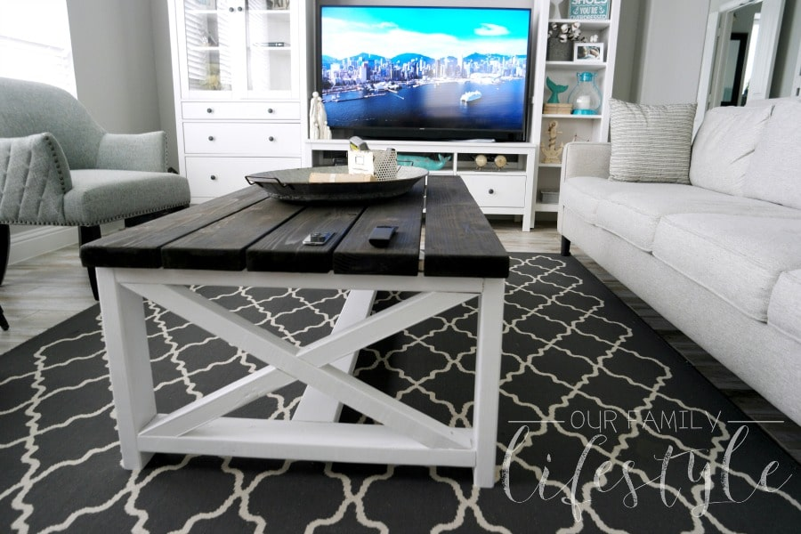 X-Frame Farmhouse Coffee Table