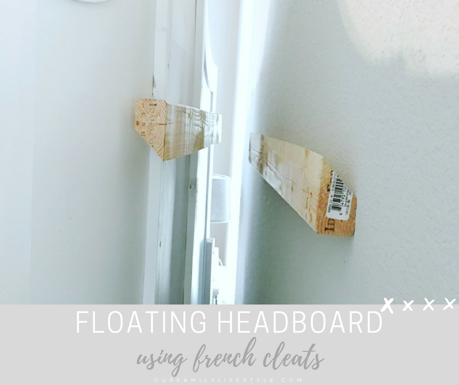 Easy Floating Headboard Using French Cleats