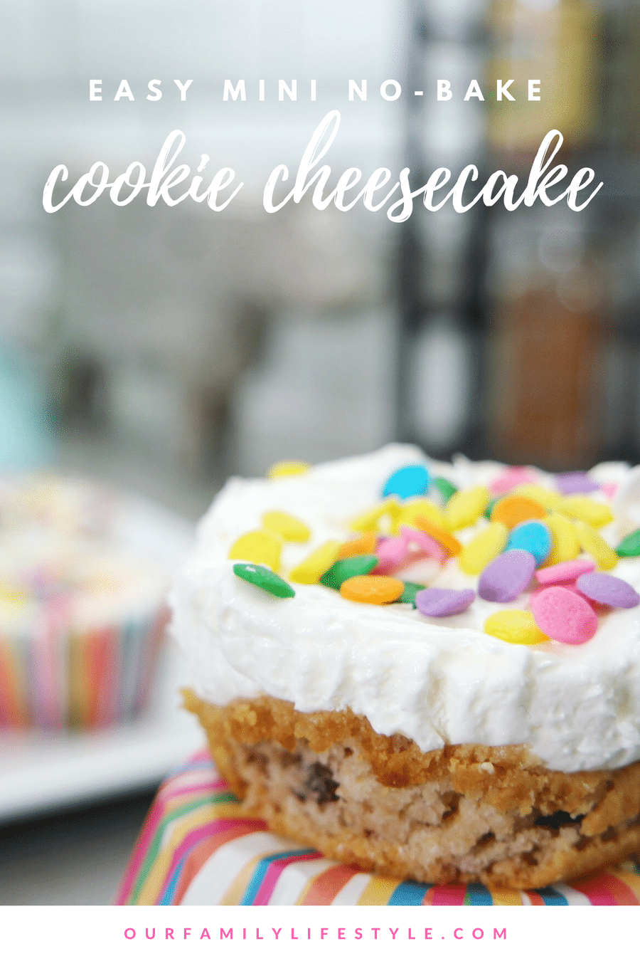 Mini No-Bake Cookie Cheesecake Recipe