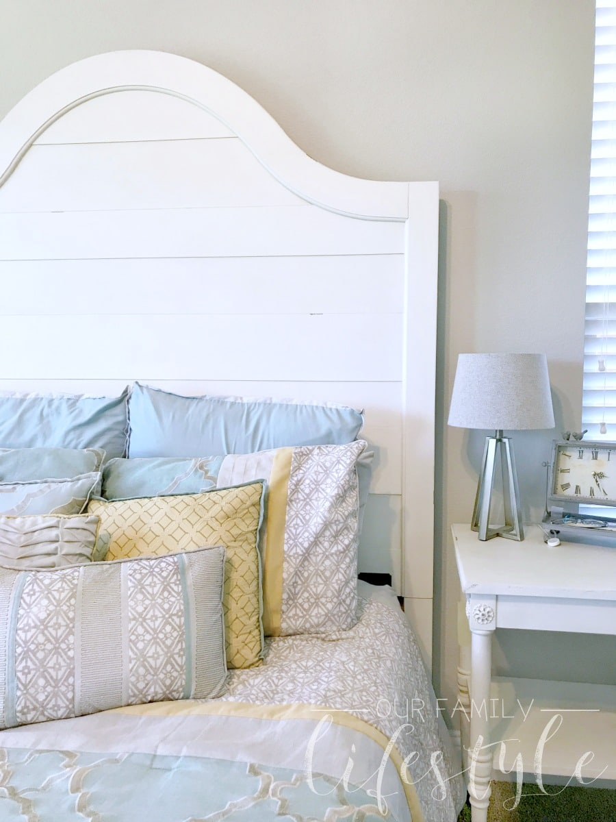 wall mounted farmhouse headboard