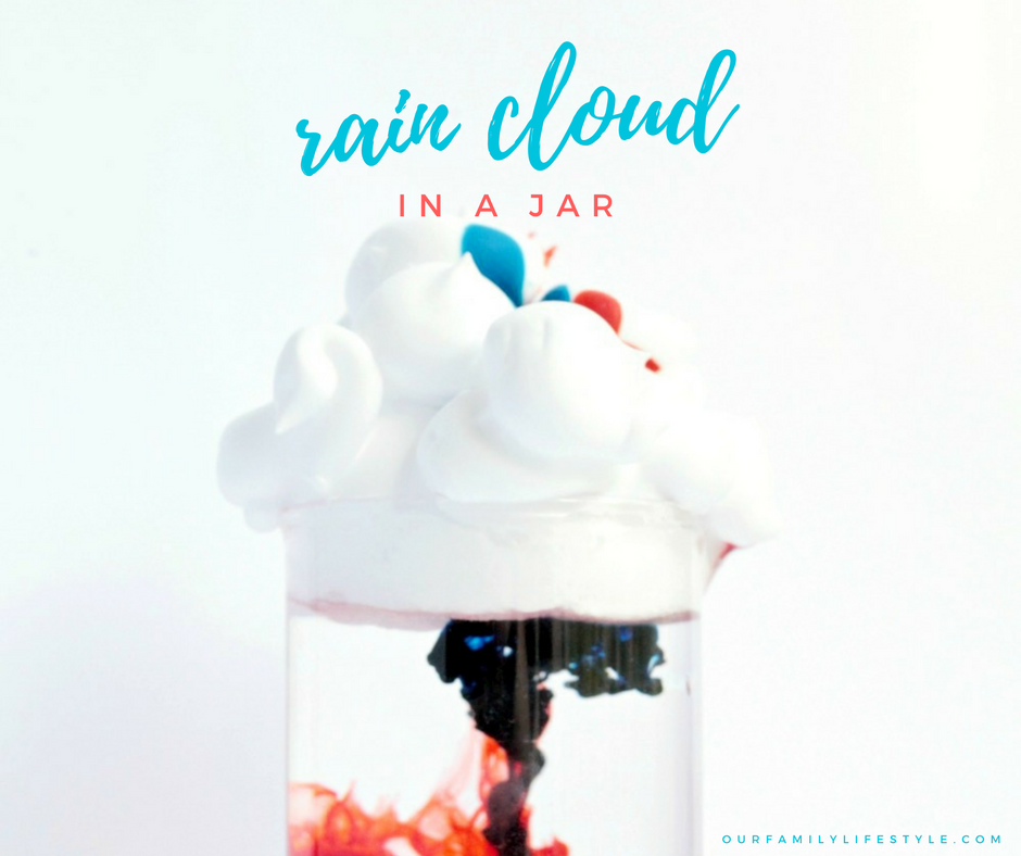 Rain Cloud in a Jar Science Experiment for Kids