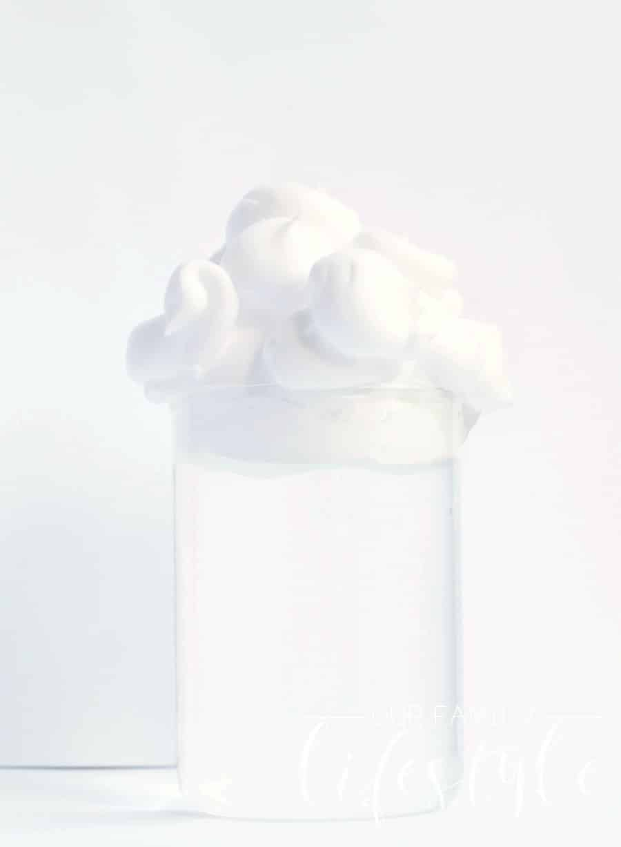 rain clouds in jar