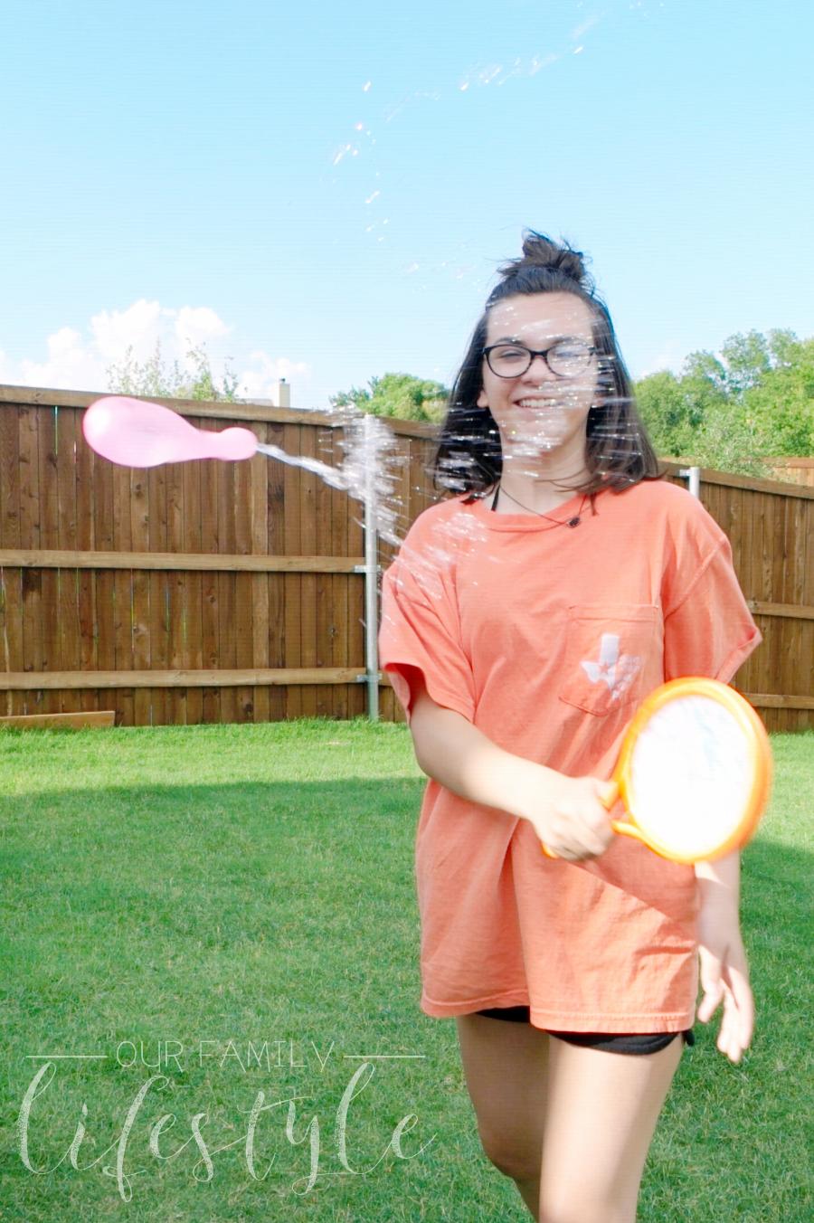 water balloon yard tennis
