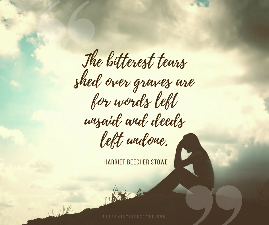 Harriet Beecher Stowe quote about regret