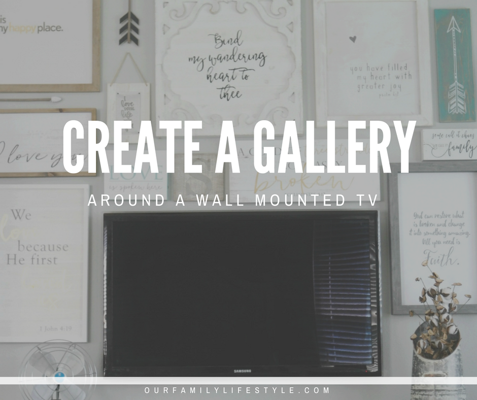 How to Create a Gallery Wall Around a Mounted TV