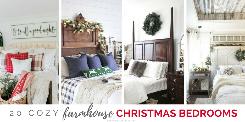 20 Cozy Farmhouse Christmas Bedrooms Twitterpng 20 Cozy Farmhouse Christmas Bedrooms