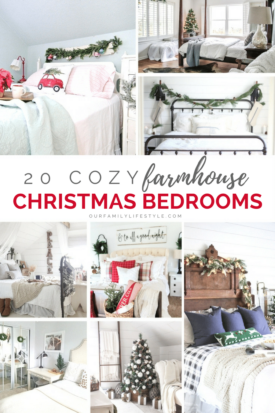 20 Cozy Farmhouse Christmas Bedrooms