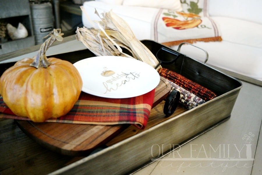 Wagon serving board centerpiece
