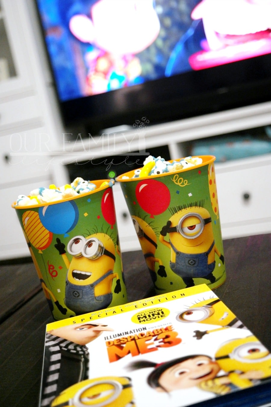 Despicable Me 3 Minions Chocolate Popcorn