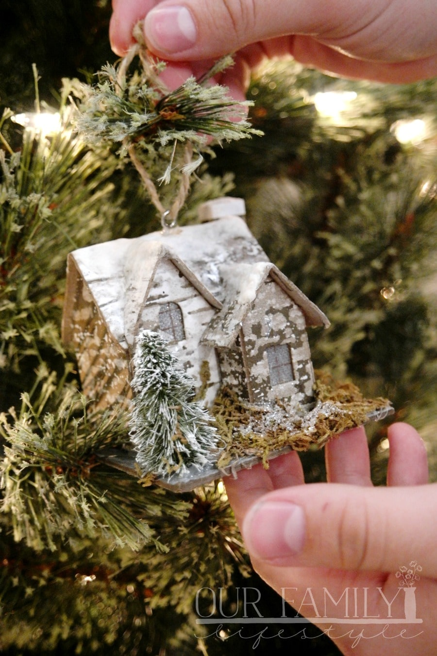 Light-Up Cabin Ornaments