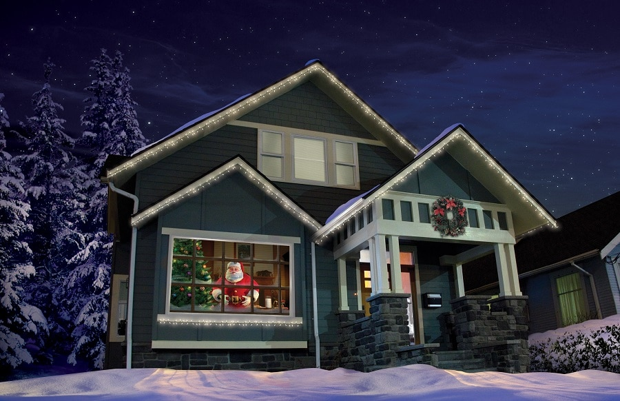 Santa's Visit digital decorations