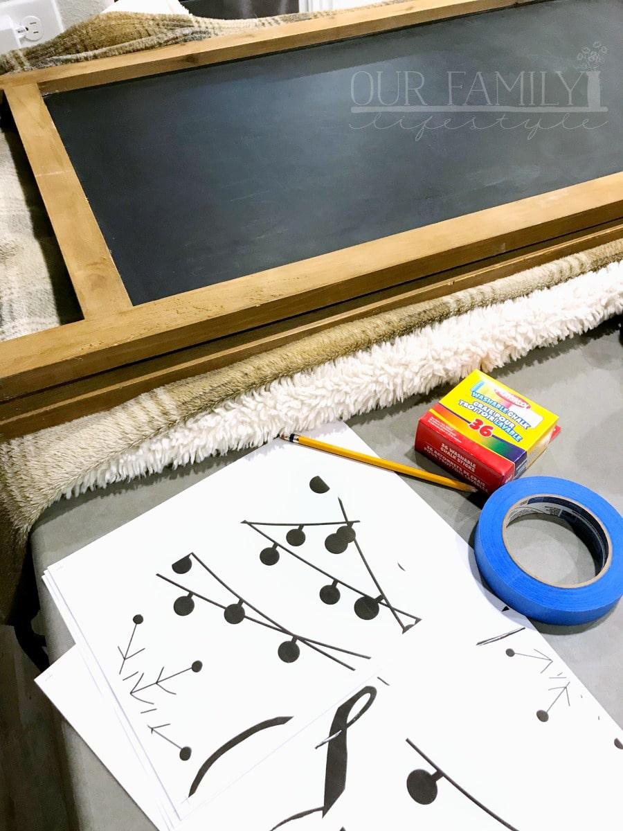 diy chalkboard sign supplies