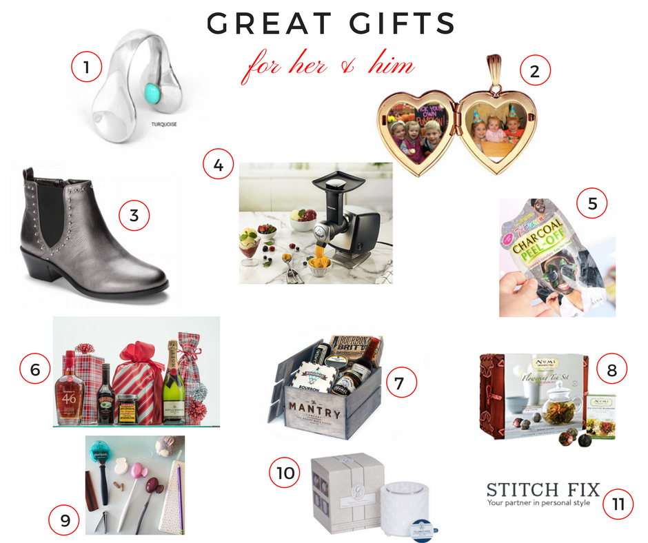 great gifts for her and him