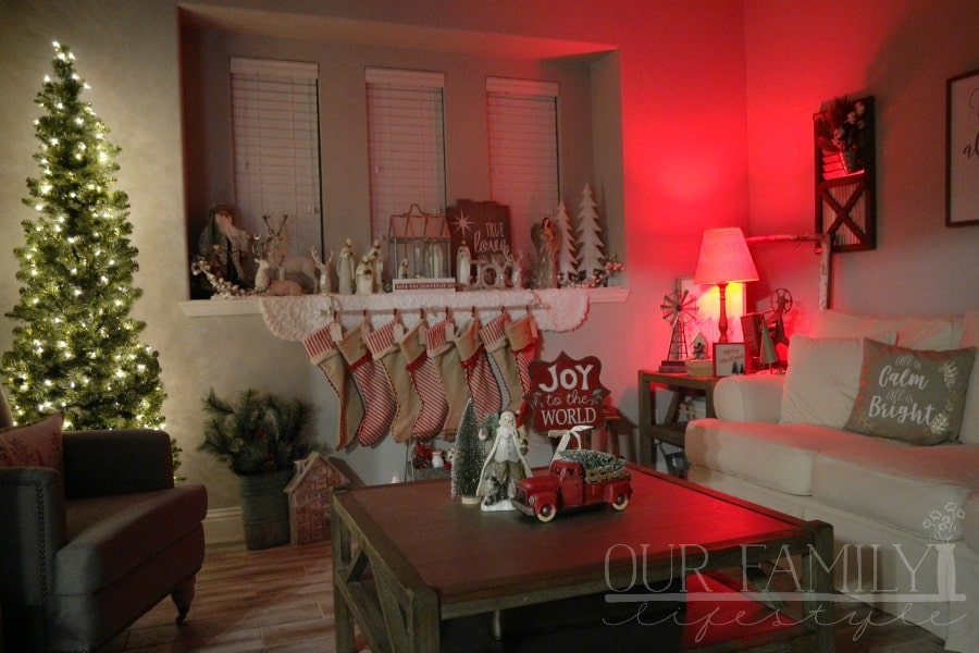 indoor holiday lights with Hive