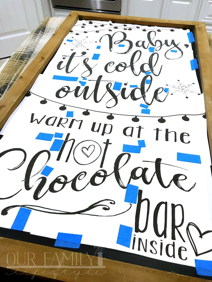 make your own chalkboard sign