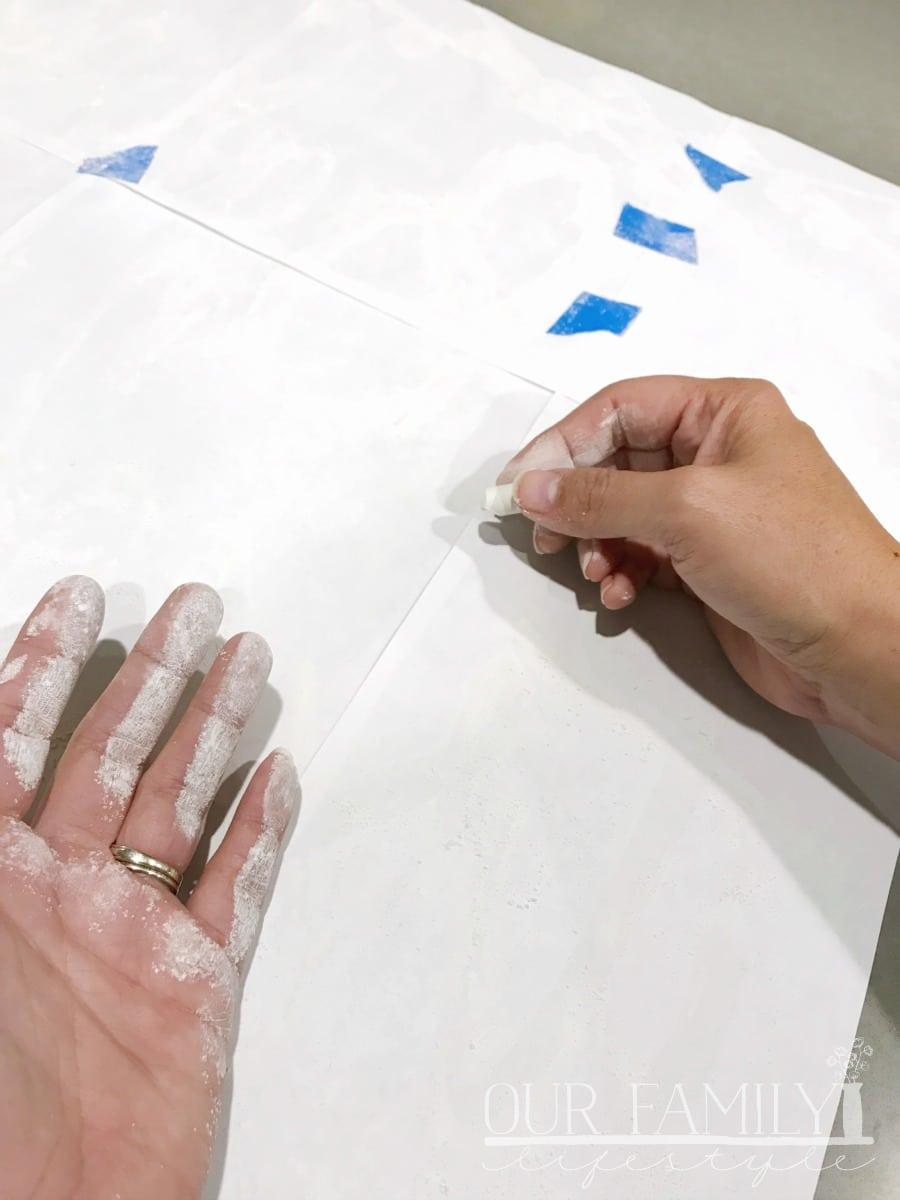 transfer your chalkboard design
