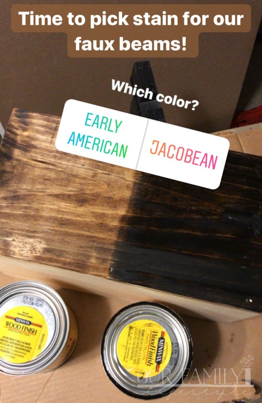 Instagram wood stain poll