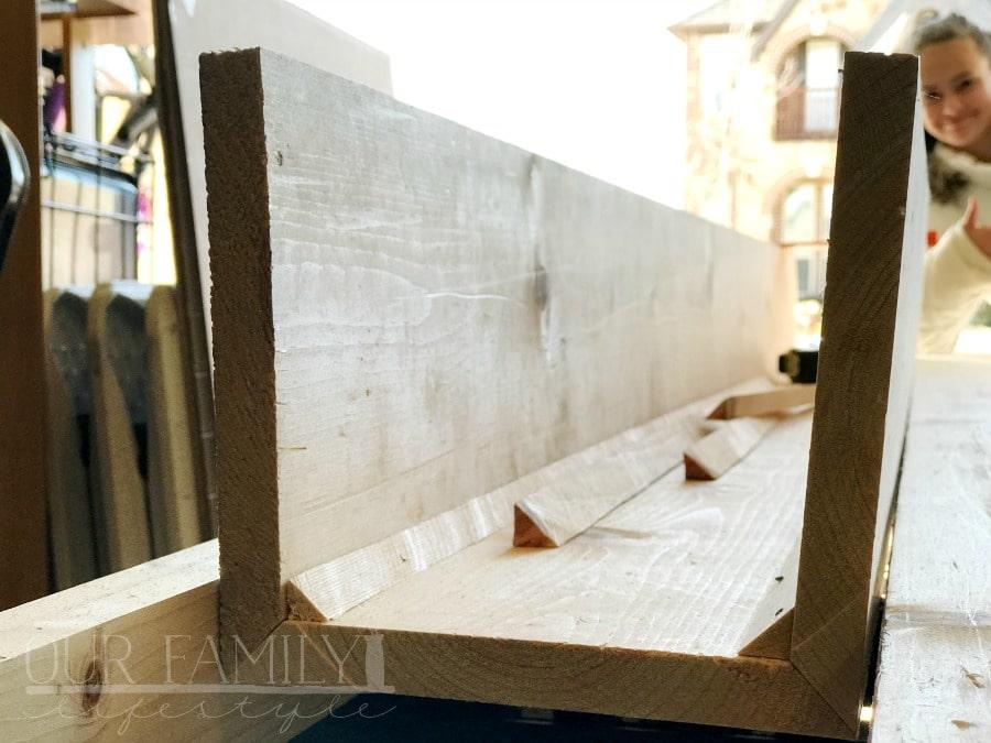 making DIY faux beams