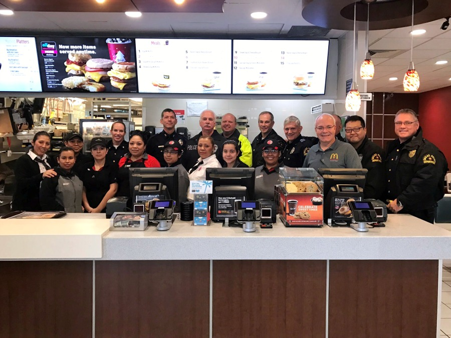 Coffee with Cops at McDonalds