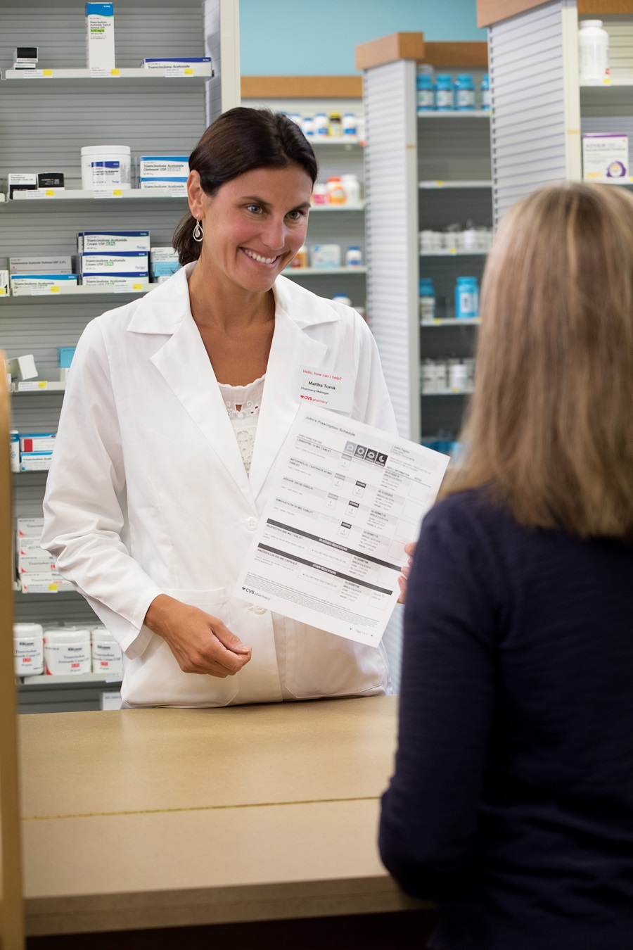 CVS Pharmacist consult on ScriptPath prescription schedule