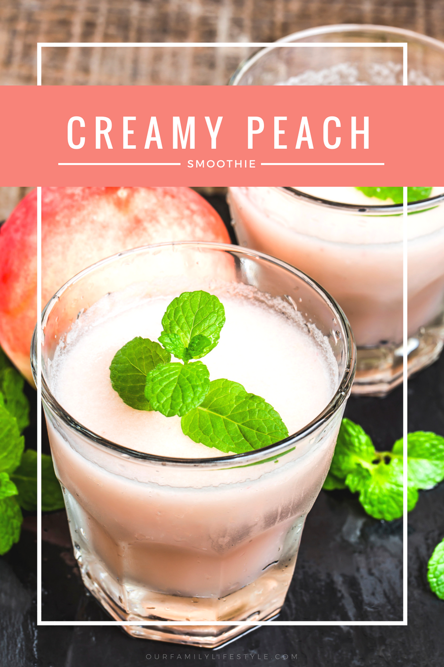 Refreshing Summertime Creamy Peach Smoothie