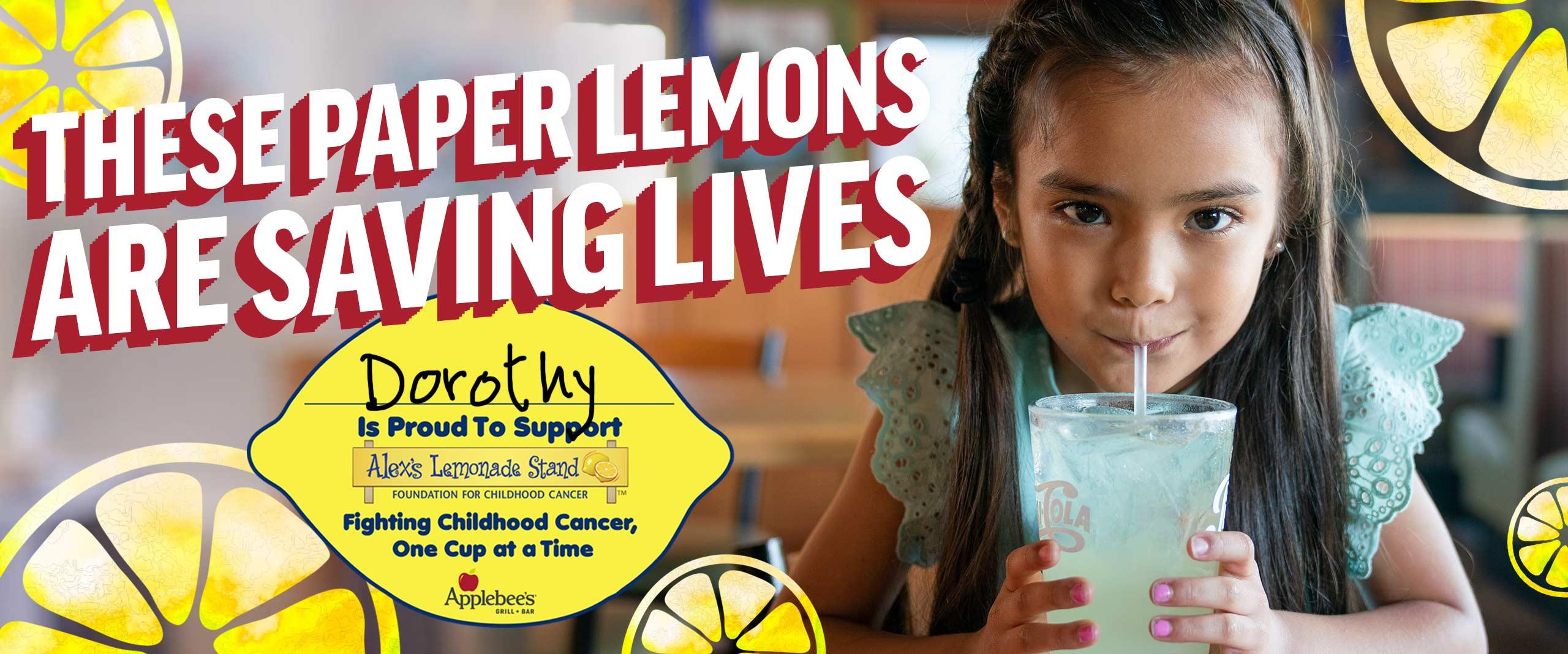 Applebee's + Alex's Lemonade Stand Team Up To Fight Childhood Cancer