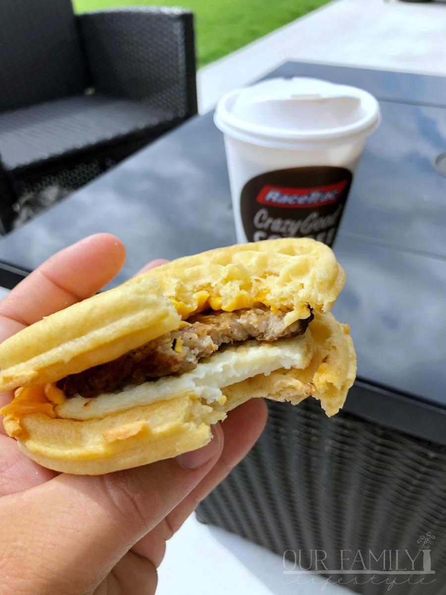 RaceTrac Breakfast Sandwich Eggo Waffles