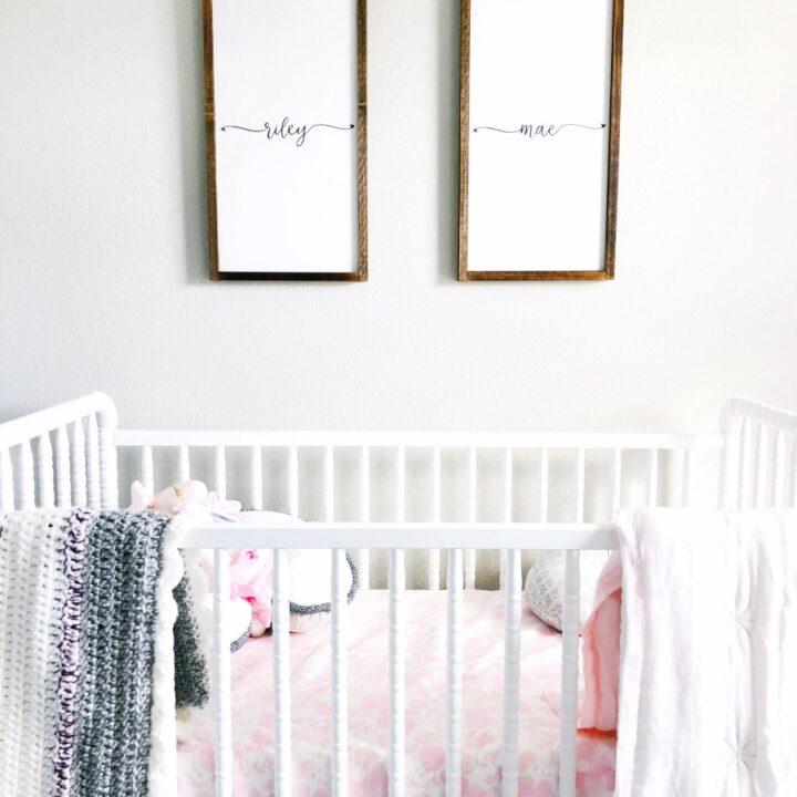 handmade wooden signs for nursery