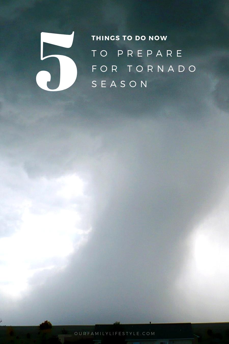 5 Things to do Now to Prepare for Tornado Season