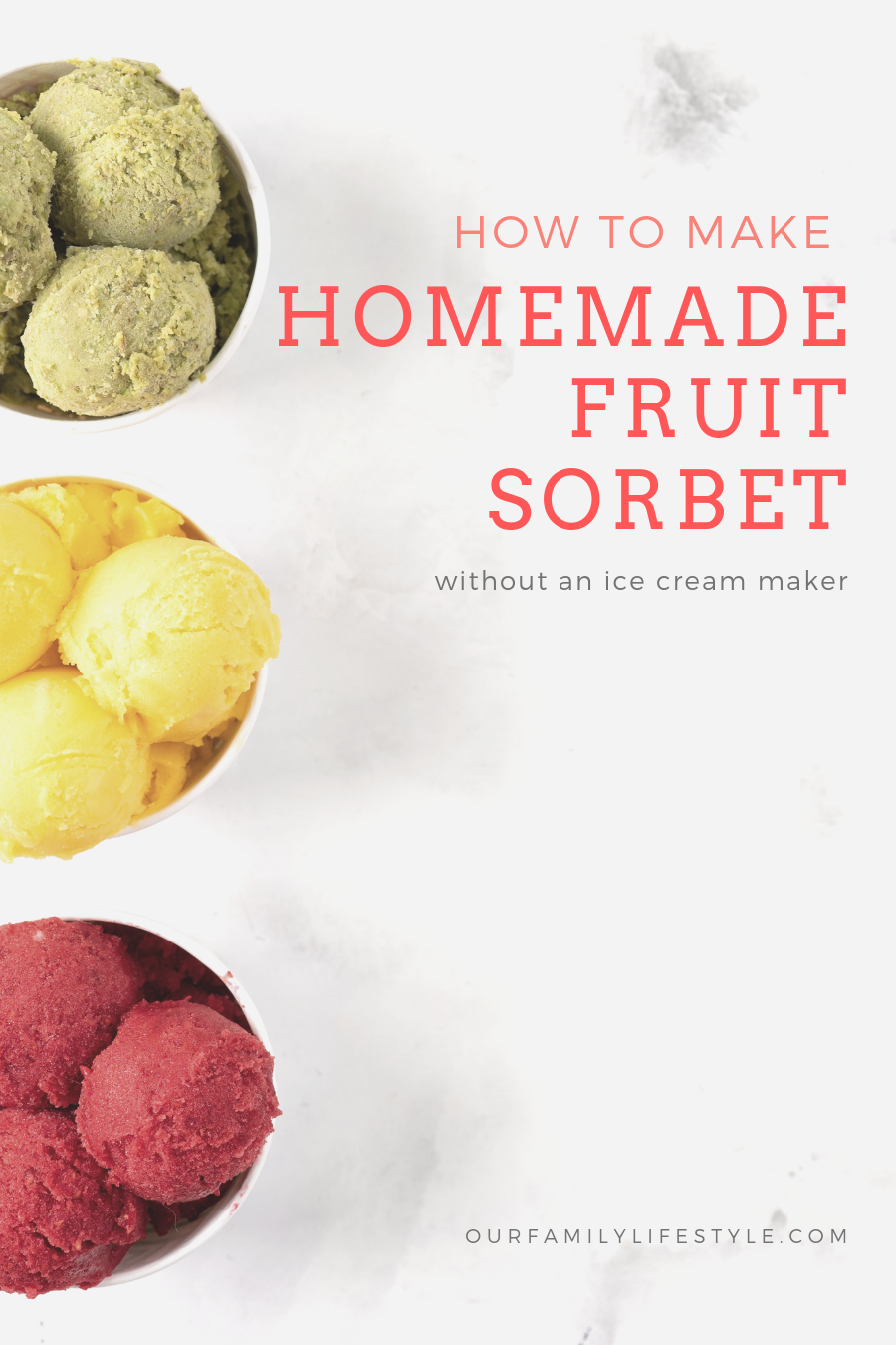 How to Make Homemade Fruit Sorbet Without an Ice Cream Maker