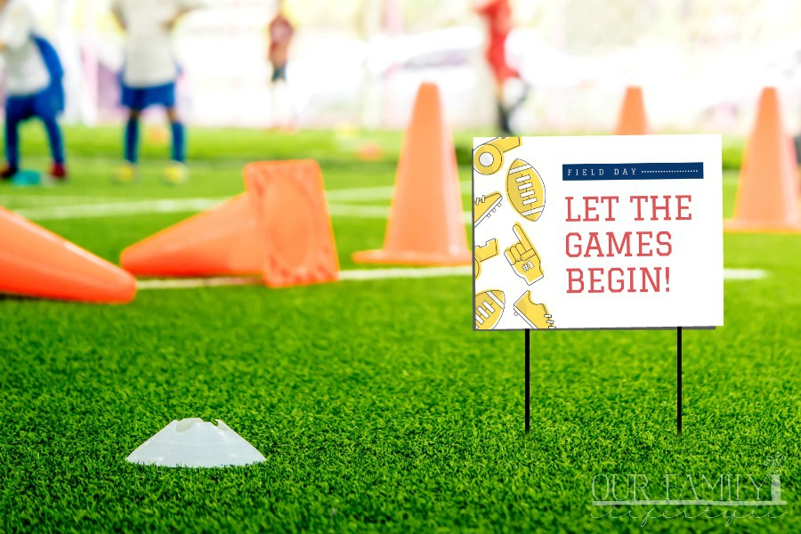 field day games printable signs