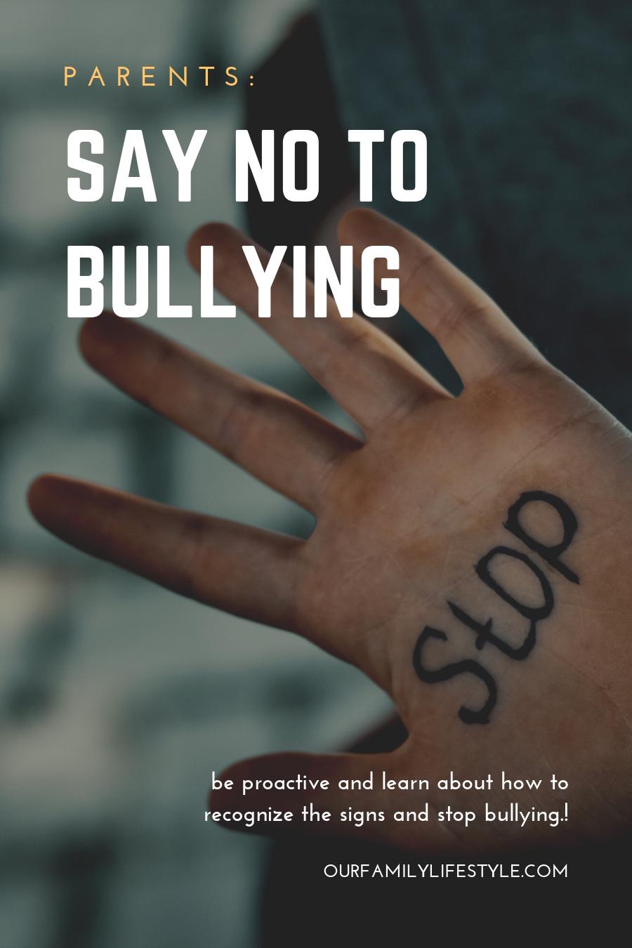 Parents - Say No To Bullying