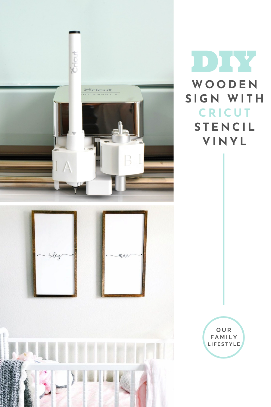 DIY Wooden Sign with Cricut Stencil Vinyl
