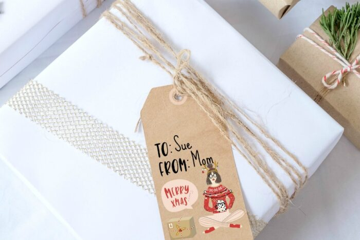 printable gift tags on packages